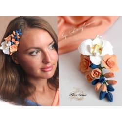 """""""Вальс цветов """"заколка с цветами для волос"""