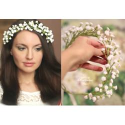 """""""Сказочная гипсофила""""  авторский свадебный веночек для невесты"""