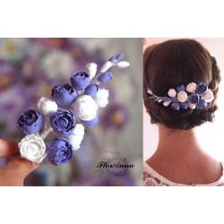 """Заколка для волос с цветами """"Сиреневый рай"""""""