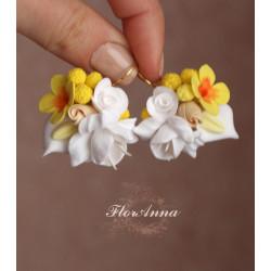"""""""Аромат весны"""" желтые серьги"""