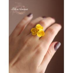 """Желтые розы"" кольцо"