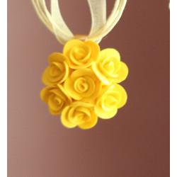 """Кулон ручной работы """"Желтые розы"""""""