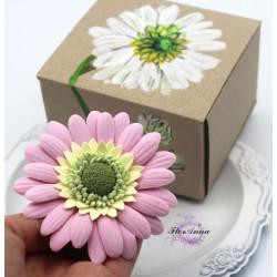 """Оригинальный подарок девушке, женщине, подруге. Заколка/ брошь цветок  """"Розовая гербера2"""