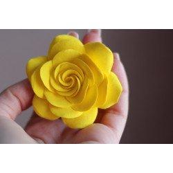 """""""Желтая роза"""" (6,5-7см) заколка для волос"""