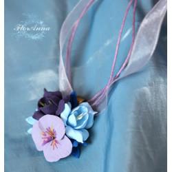 """""""Воздушная гармония """" кулон с цветами"""