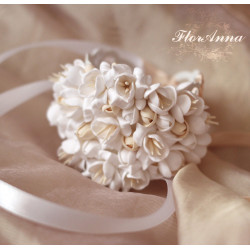 """""""Воздушный айвори"""" свадебный браслет для невесты или свидетельницы"""