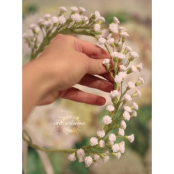 """""""Сказочная гипсофила"""" свадебный венок с цветами  ручной работы"""