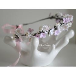"""""""Соцветие"""" свадебный веночек с цветами из полимерной глины"""