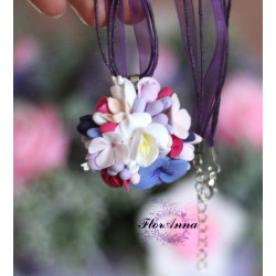 """Весенний аромат"" фиолетовый кулон"