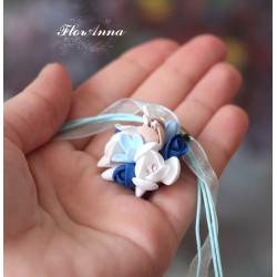 """""""Воздушный градиент"""" авторский кулон с цветами из полимерной глины."""