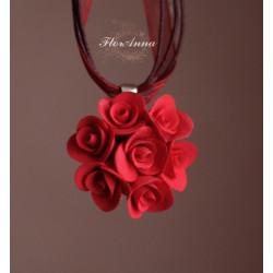 """""""Красные розы"""" кулон ручной работы"""