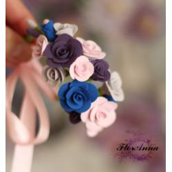 """""""Рассвет"""" браслет на руку с розами"""