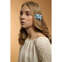 """Голубая заколка для волос ручной работы """"Незабудки"""""""