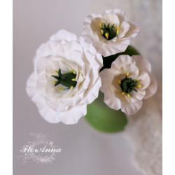 """""""Эустомы""""  (3 шт) шпильки для волос с цветами в свадебную прическу"""