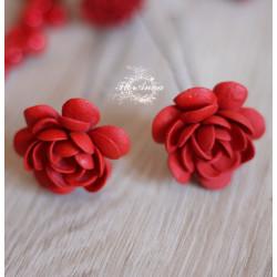 """Красные шпильки для волос ручной работы  """"Красные гардении"""" (1шт)"""