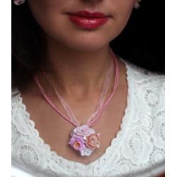 """""""Зефирная нежность"""" розовый кулон ручной"""