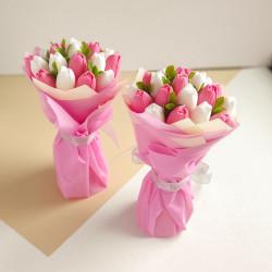 Букет тюльпанов из мыла ручной работы. (1шт)